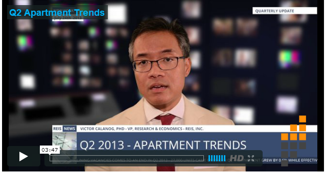2013 Q2 Apartment Trends show Improvement